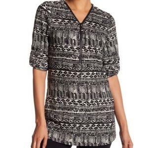 Contrast Zip Front Sweater